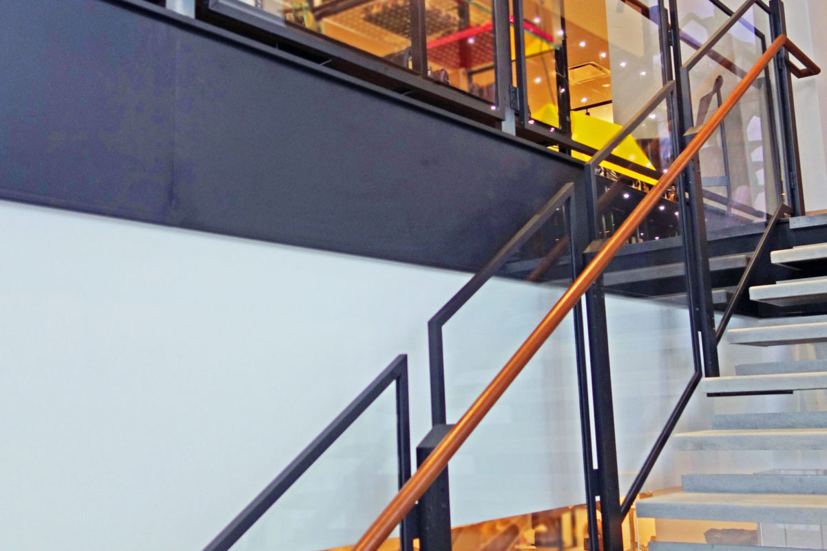 Mistral Fabricated Steel Stair + Guard Railing.