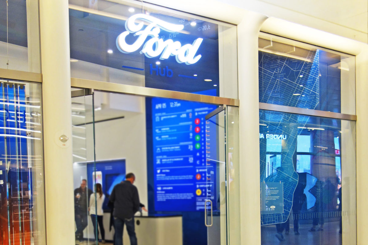 Mistral Worked With The Owners And Designers To Come Up With The First Ford Experience Store In NYC.