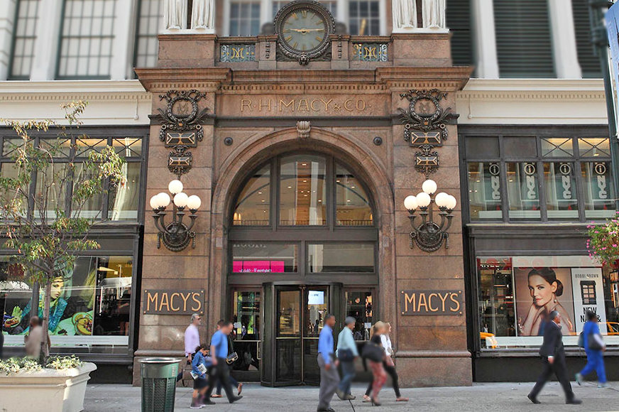 Mistral Was Responsible For The Renovation Of The Macy's Storefronts + Entrances Including A Custom Arched Top Entrance.