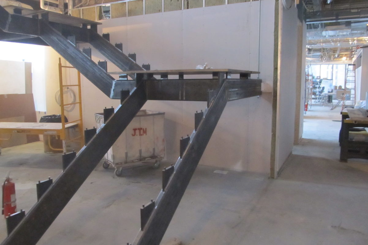 Mistral Design + Build Staircase. All Structural Steel Done In House.