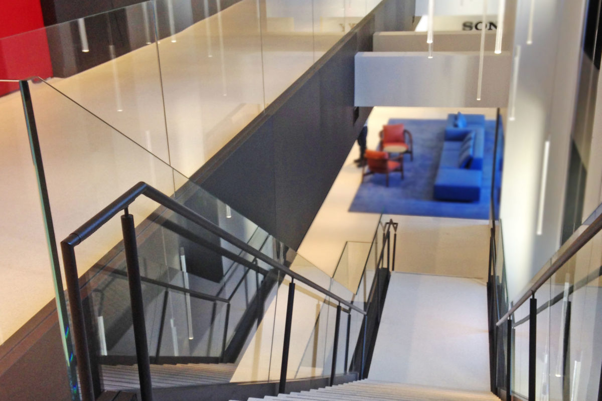 Custom Steel + Glass Stair And Guard Railing.