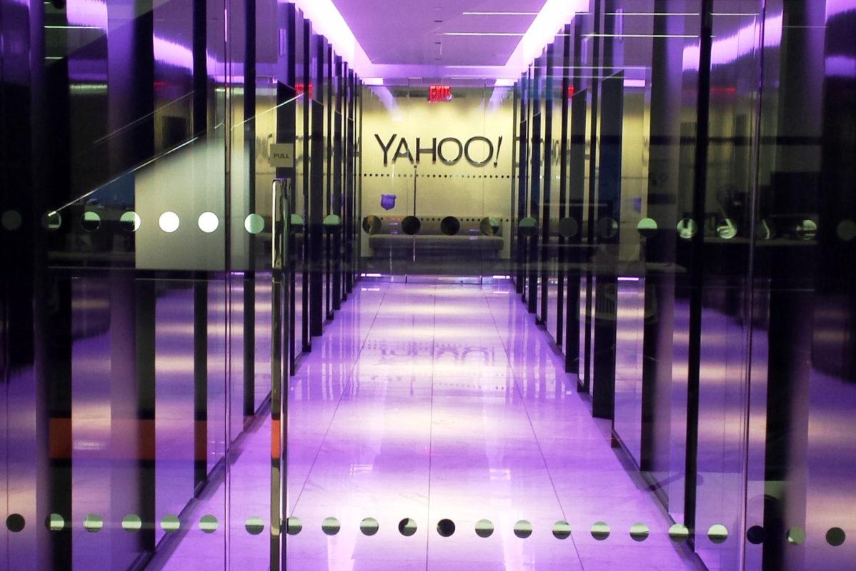 Custom Entrance + Lobby For The YAHOO! Office.