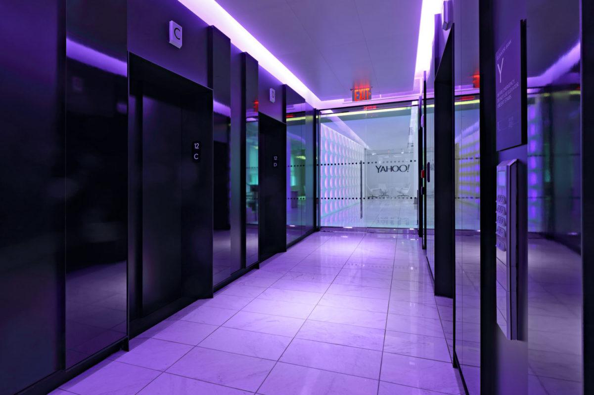 Custom Blackened Steel Elevator Door Portals.