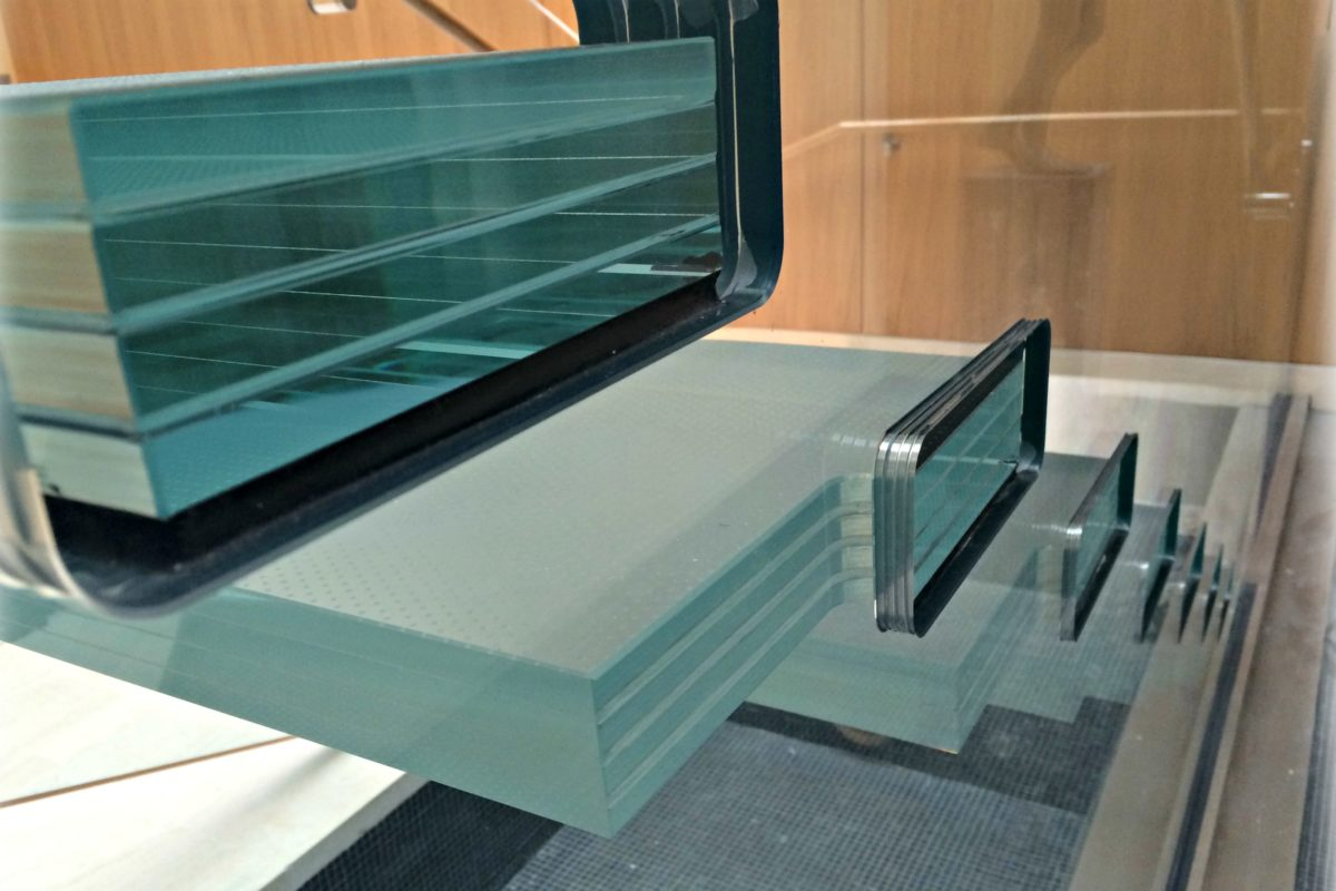 Glass Treads Set In Mail Slot For Easy Removal For Replacement.