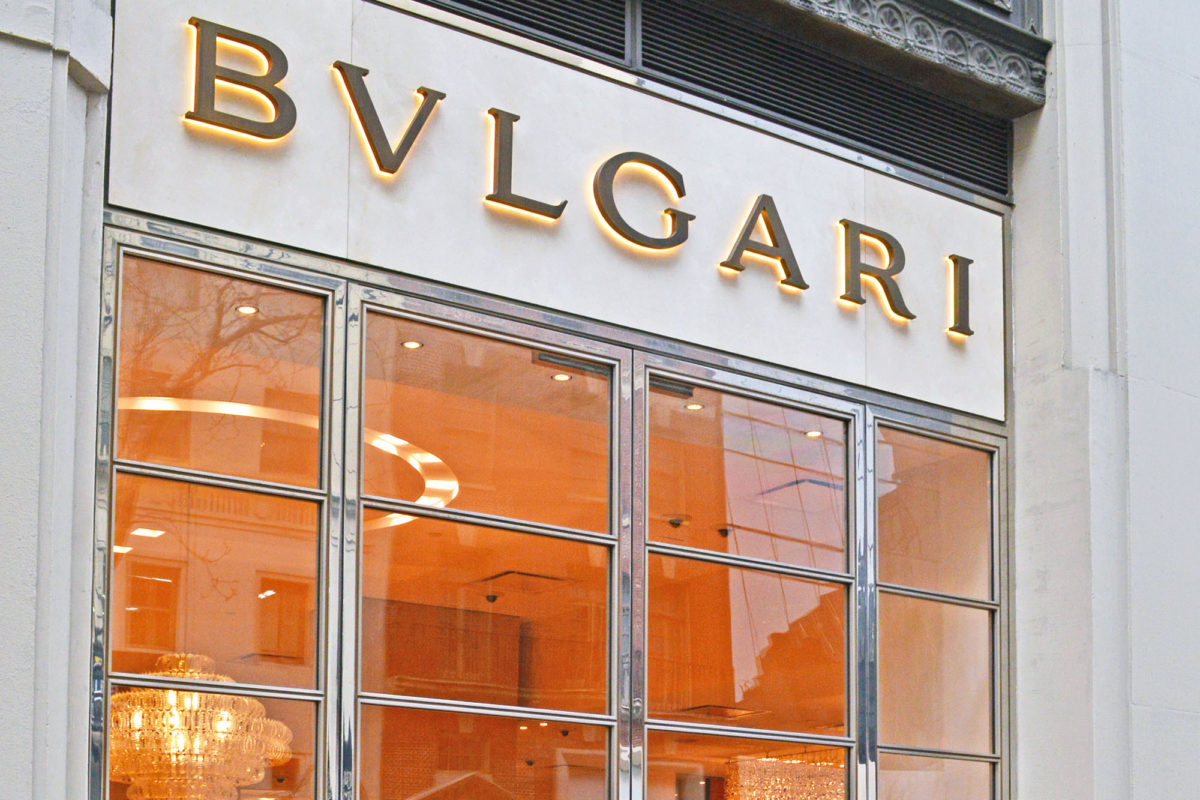 Custom Fabricated Mirror Finish Stainless Steel Entrance + Storefront.Bvlgari – 500 5th Ave – New York, NYArchitect: Studio Sclavi