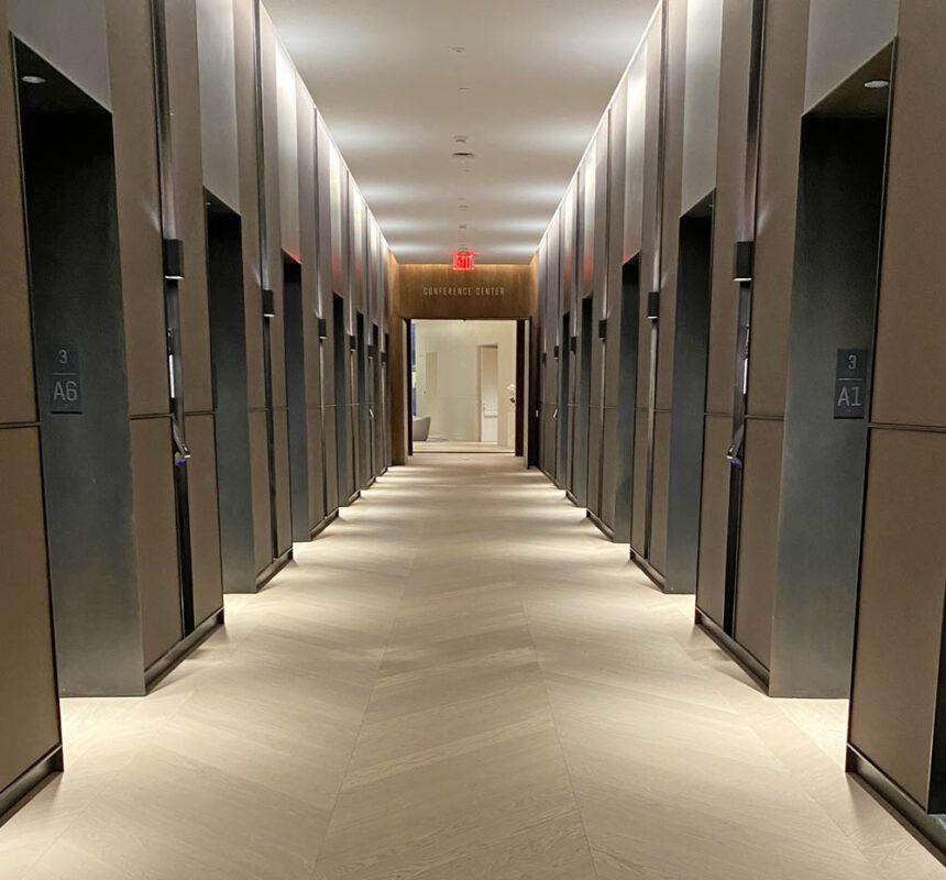 Blackened Steel Elevator Portals, Trim + Base. 1 Vanderbilt, New York, NY Architect: Gensler