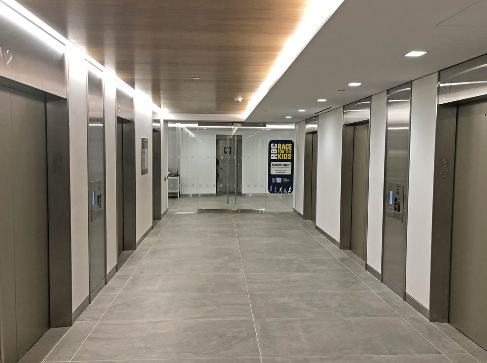 Stainless Steel Clad Portals + Debossed Signage. Royal Bank Of Canada 200 Vesey Street – New York, NY Architect: Ted Moudis Associates