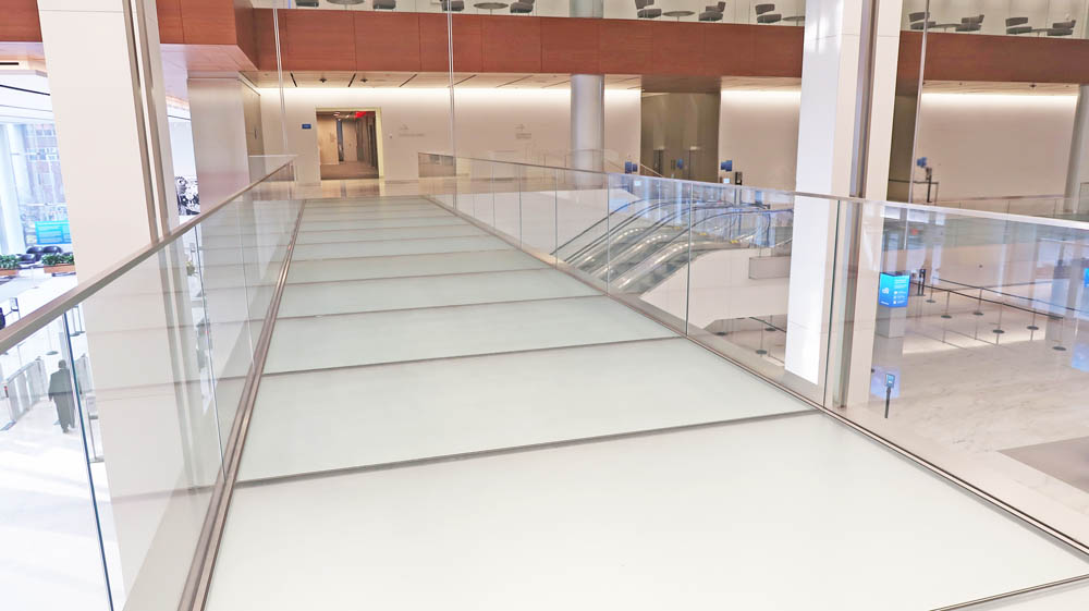 """Custom Glass Floor Bridge.CitiGroup Town Square388-390 Greenwich Street - New York, NYArchitect:  Skidmore Owings & Merrill LLP & Gensler"""