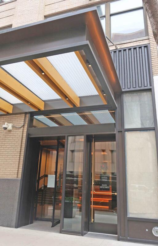 Custom Panic Egress Doors + All Glass Revolving Door.TH Real Estate 368 9th Avenue - New York, NYArchitect: Gensler