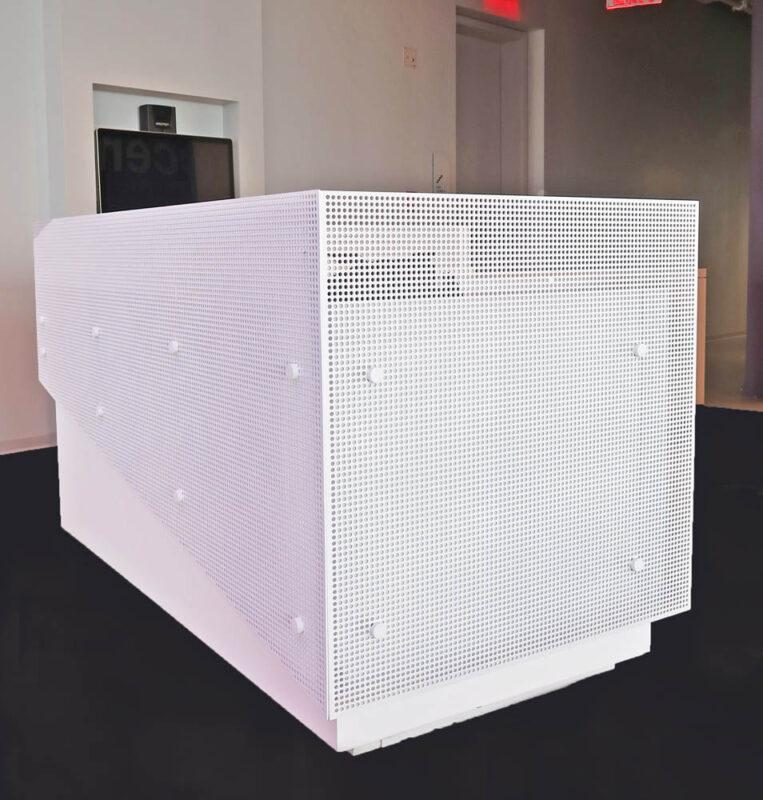 Custom Perforated Panels On Standoff.