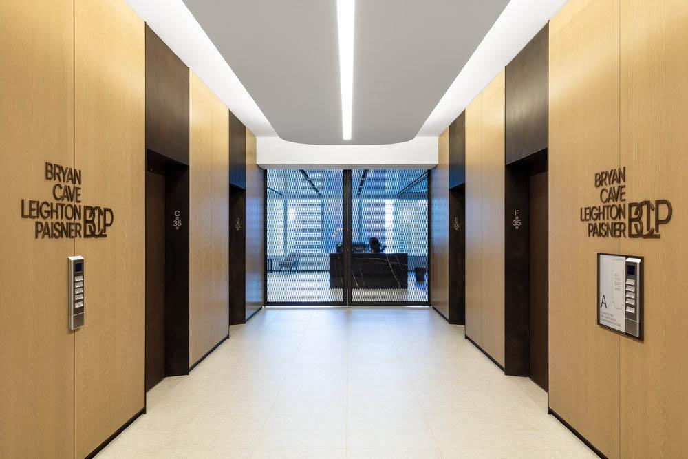 Blackened Steel Elevator Jambs + Portals.