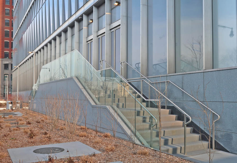 Stainless Steel + Glass Guardrails.