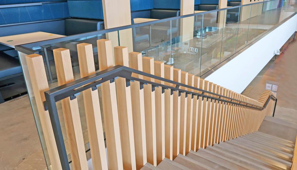 Metal Handrails With Custom Steel Brackets.