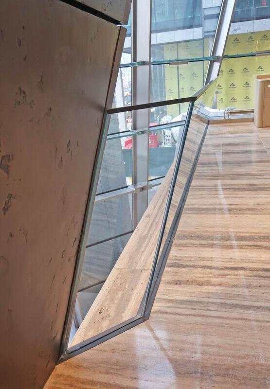 Angled Glass Guard Rails.