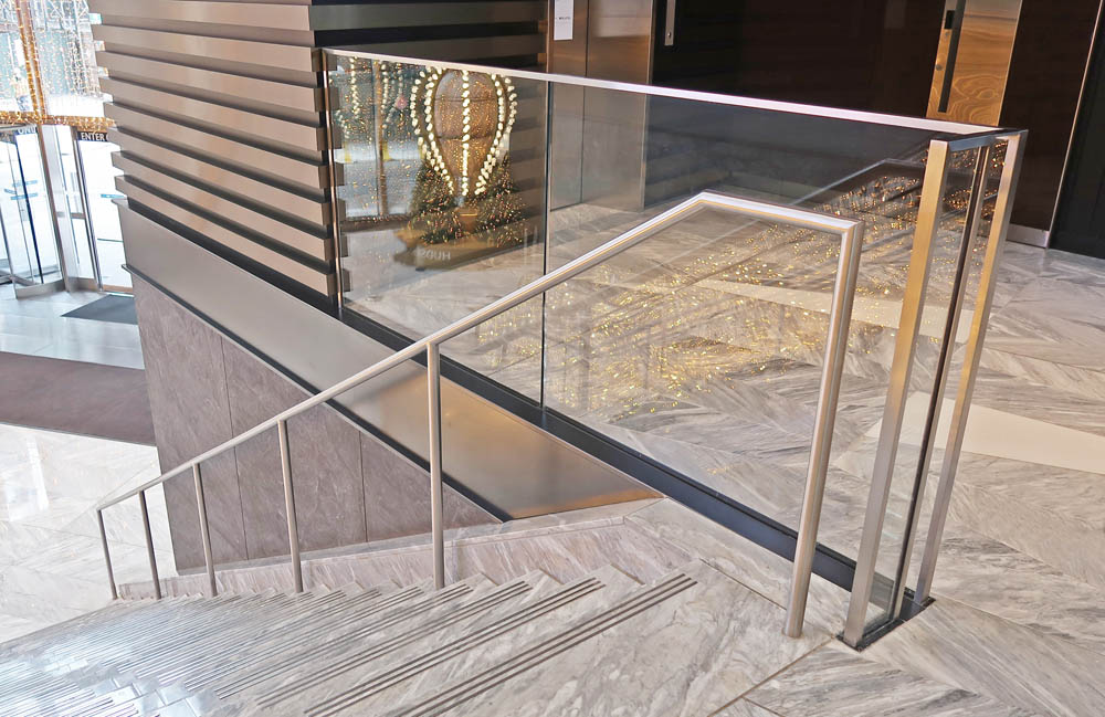 Glass Guardrails + Handrails.