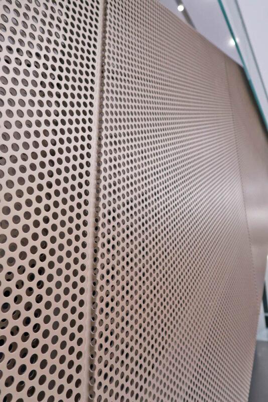 Custom Steel And Perforated Metal Guard Rails + Walls.
