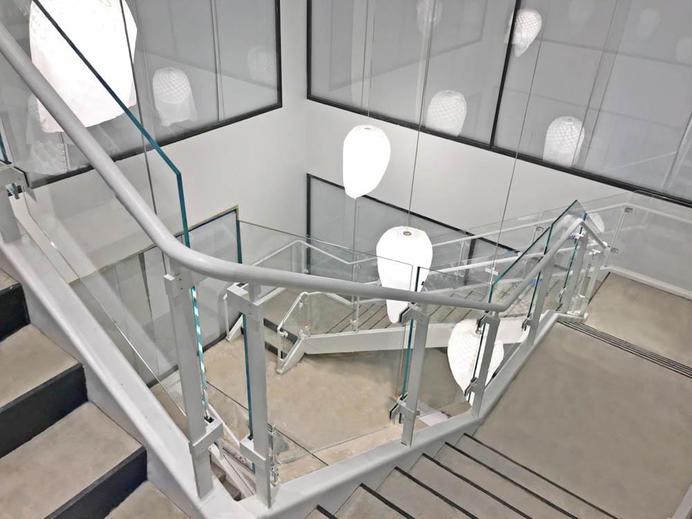 Retrofitted Steel + Glass Guardrails.