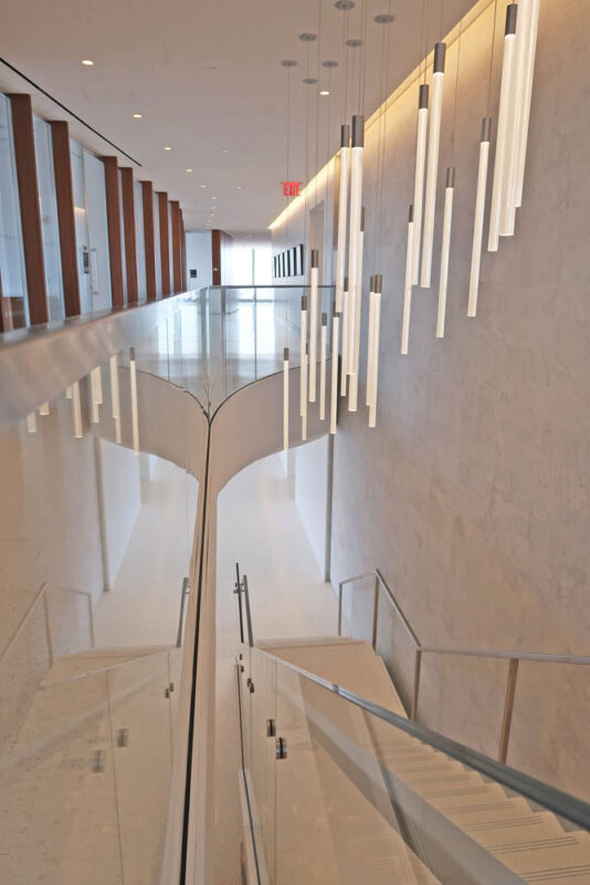 Custom Curved Glass Guardrail.