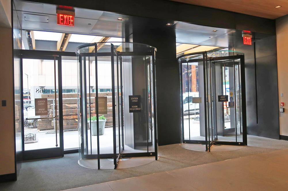 Custom All Glass Revolving Doors + Entrances.