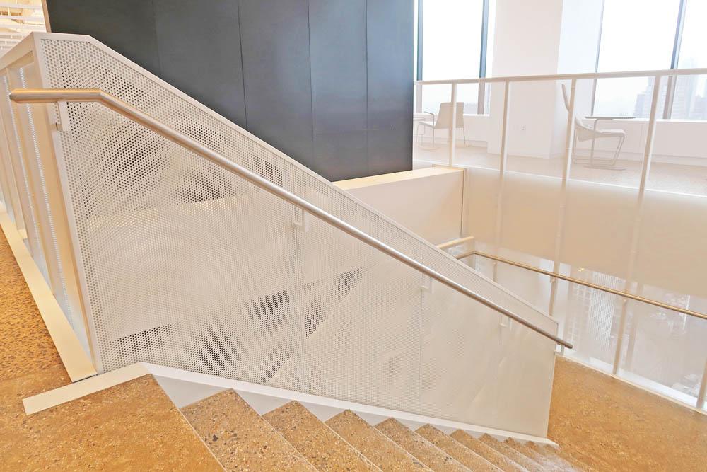 Custom Painted Steel And Mesh Guardrail + Paneling.